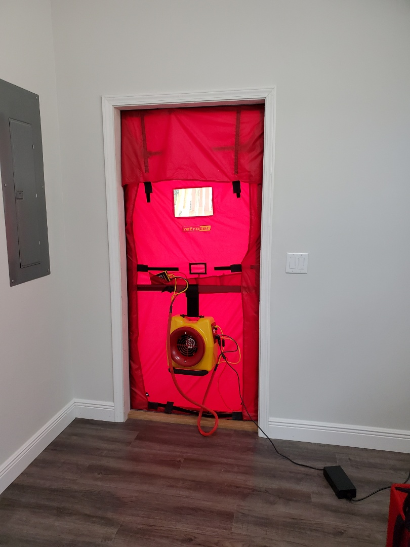 Newberry, FL - Blower door test.