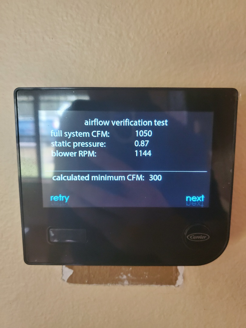 High Springs, FL - New carrier infinity thermostat install