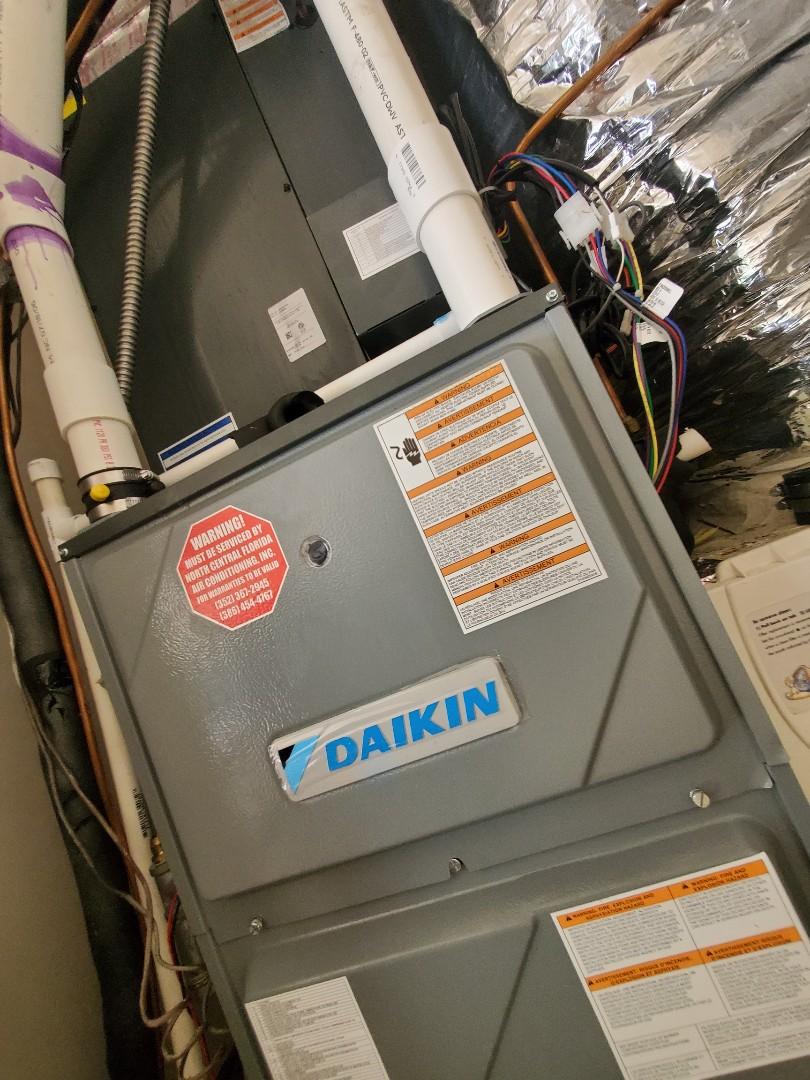 Gainesville, FL - New Daikin fit inverter air conditioning furnace 90%
