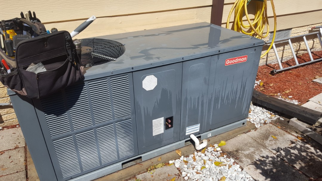 Williston, FL - Changed out blower housing on one year old Goodman package unit