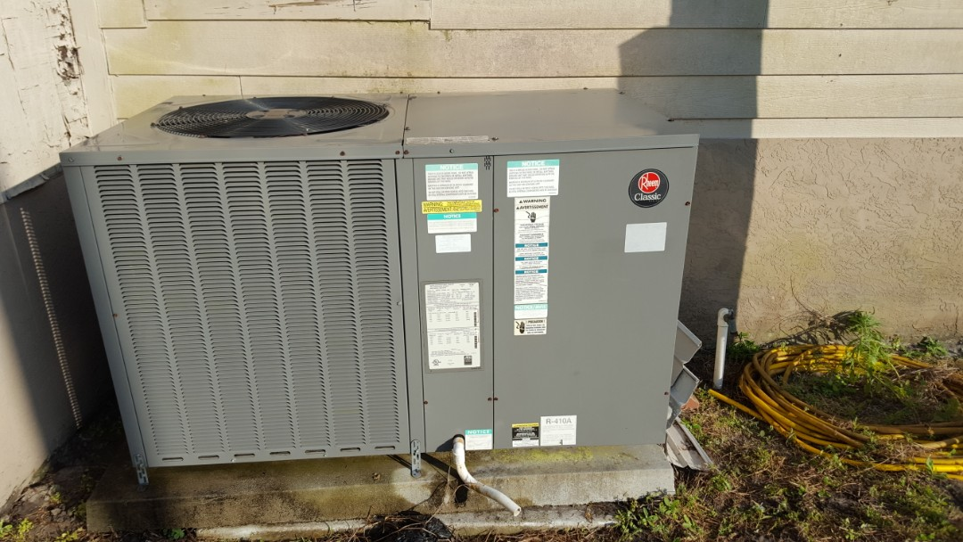 Williston, FL - Did maintenance on 6 year old Rheem package unit