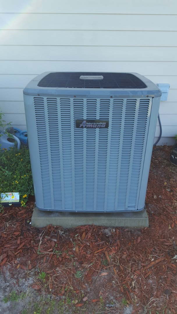 Williston, FL - Came back out to put capacitor in Amana system recommended on maintenance