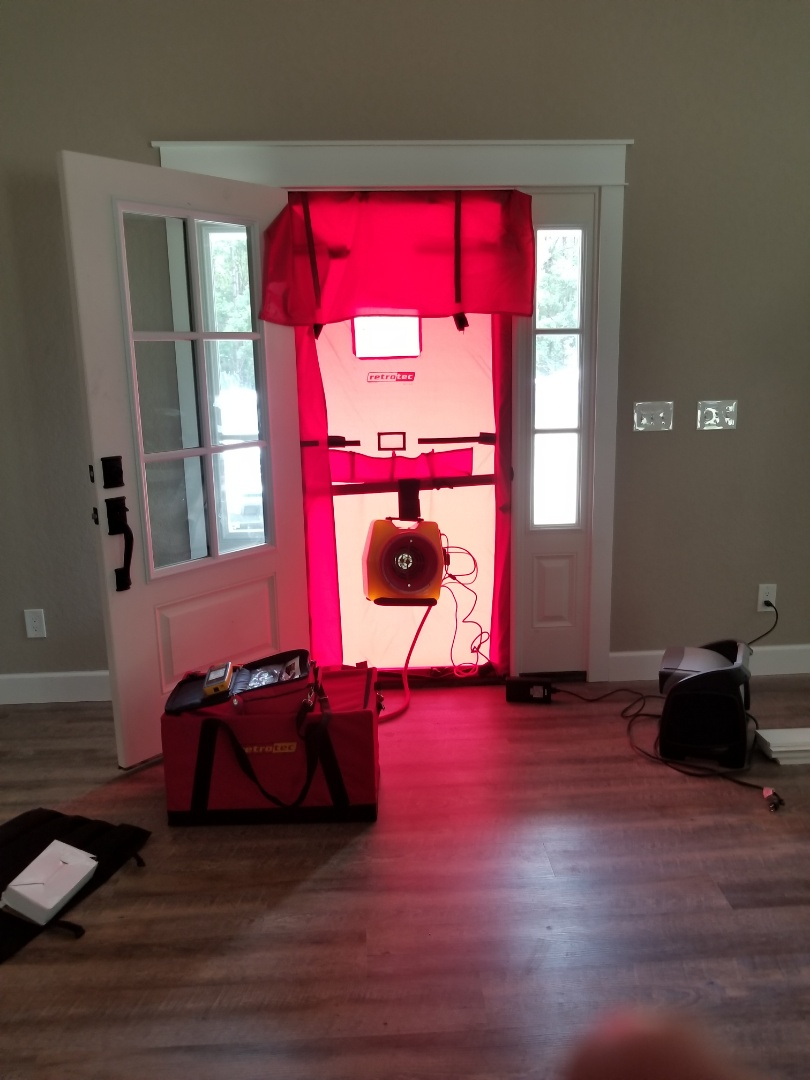 Williston, FL - Blower door testing for code