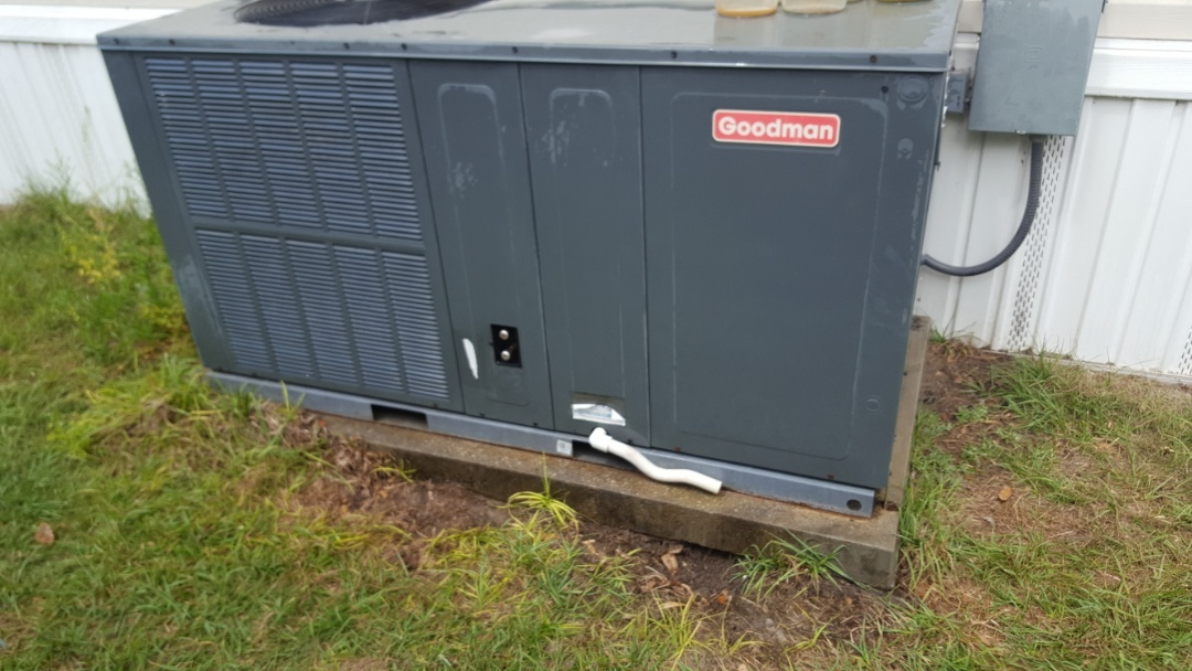 Fort White, FL -  did maintenance on three-year-old Goodman package unit