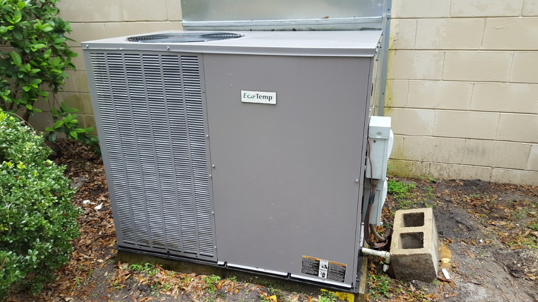 Did maintenance on four-year-old ecotemp package unit
