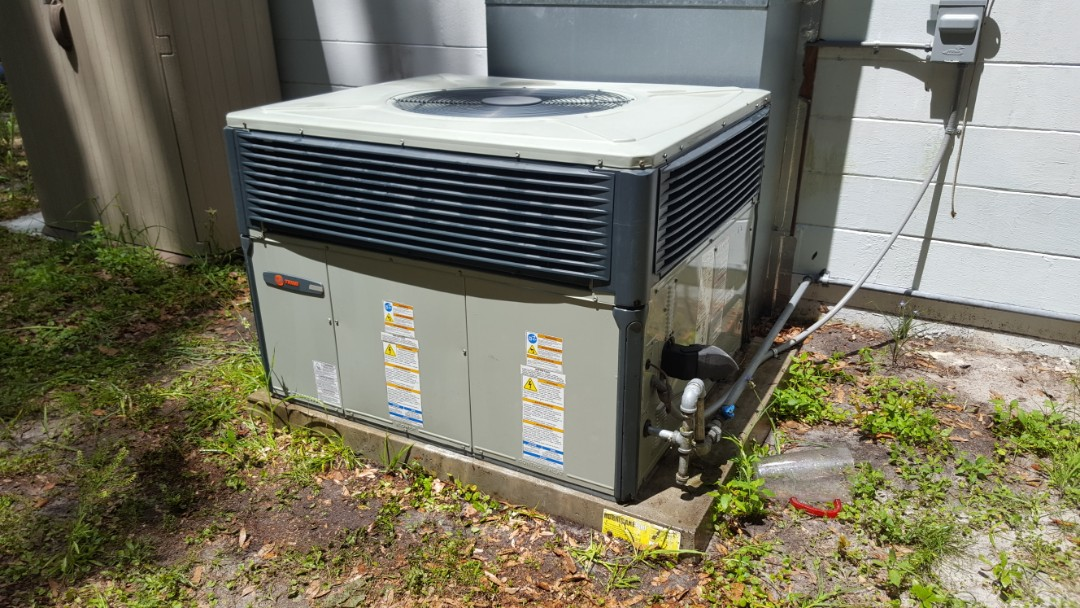 Changed inducer motor on eight-year-old Trane gas pack package unit