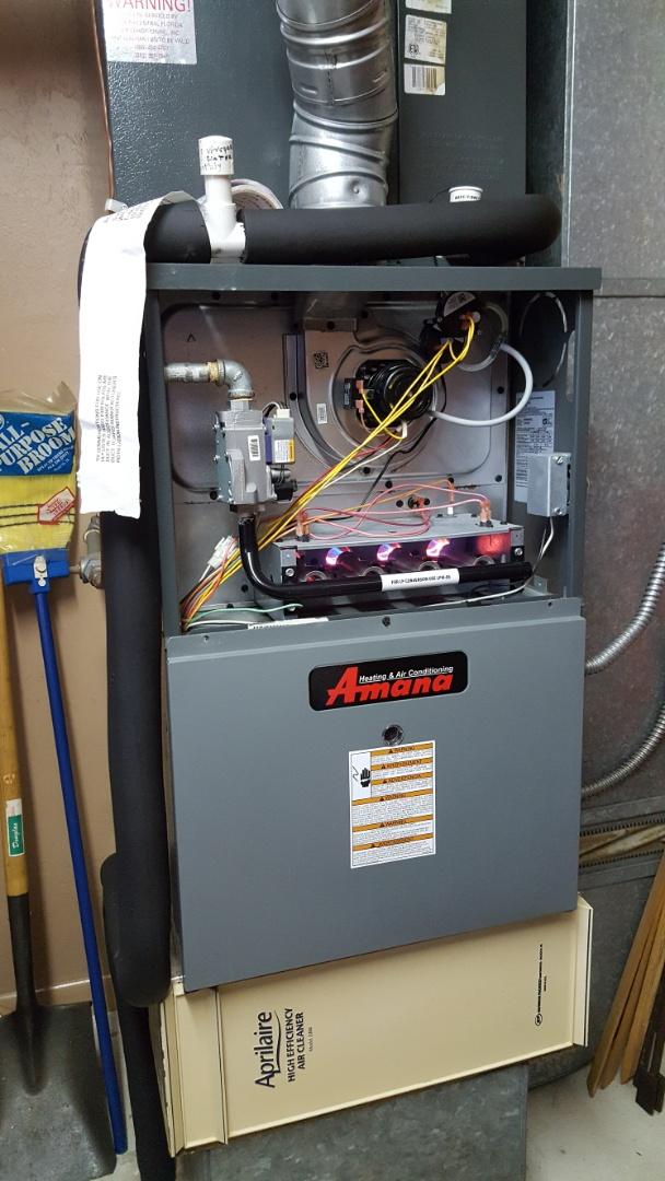Did maintenance on 8 year old Amana gas furnace AC