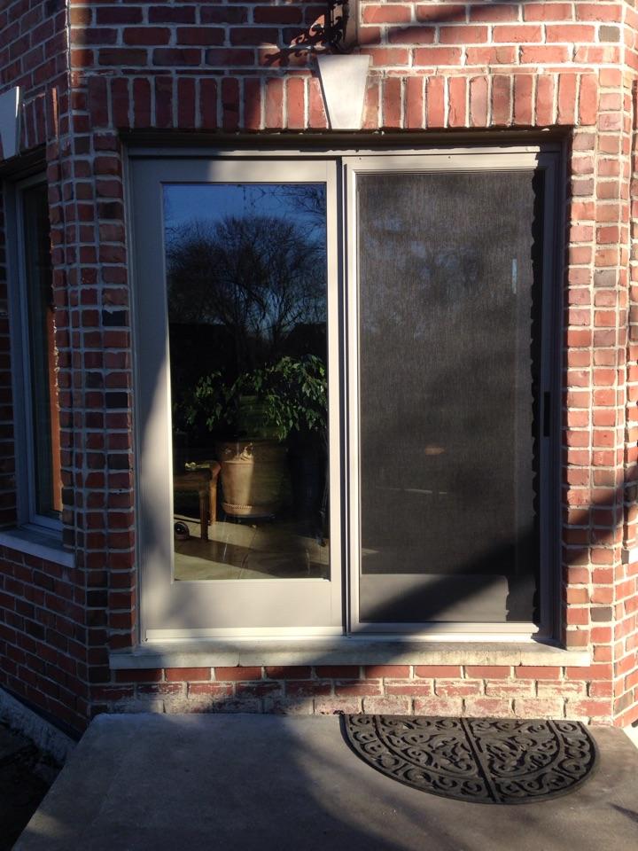 Burr Ridge, IL - Marvin clad sliding door
