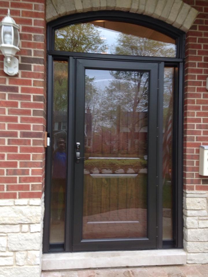Northfield, IL - Provia door sidelights transom and storm