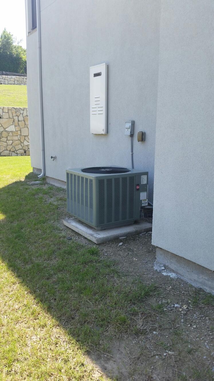 Heath, TX - Rheem AC not cooling repair thermostat leveled air conditioning unit  Heath Texas