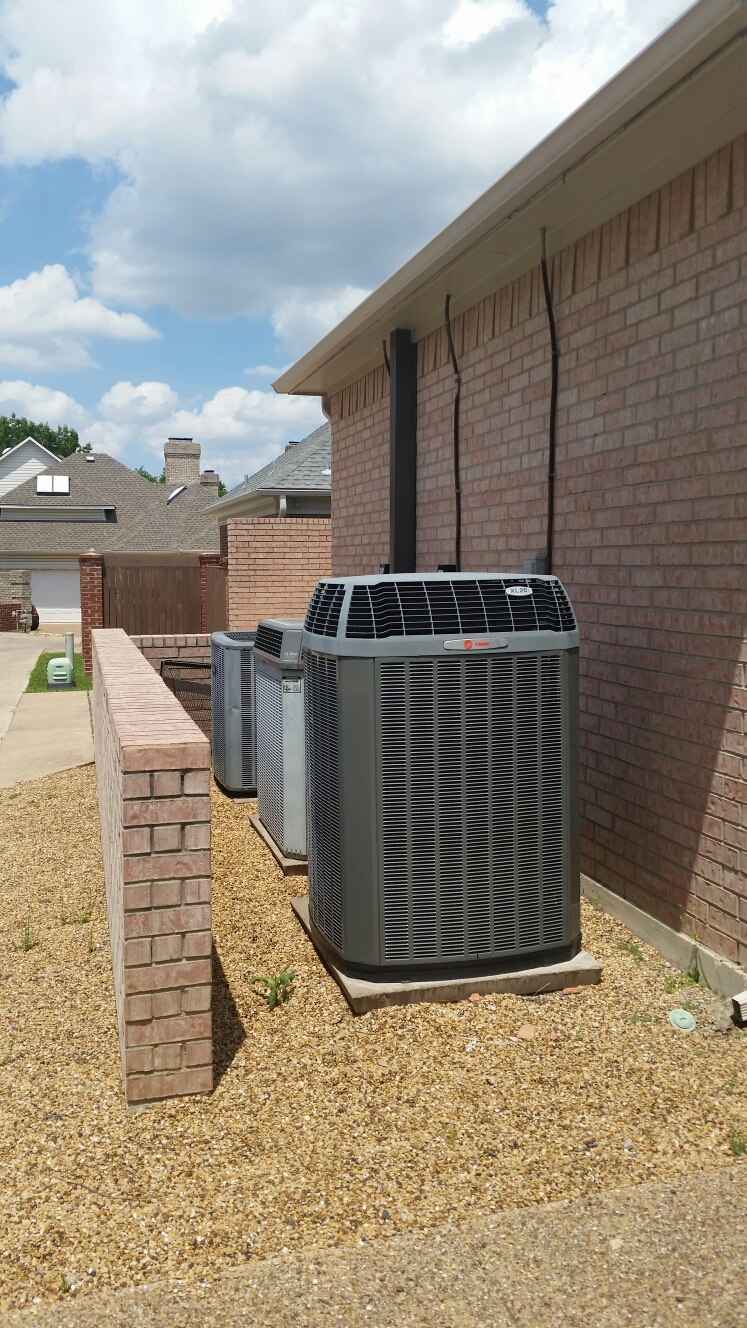 Garland, TX - Ac replacement install new Train XL 15 condensing unit perform air conditioning service Murphy Texas