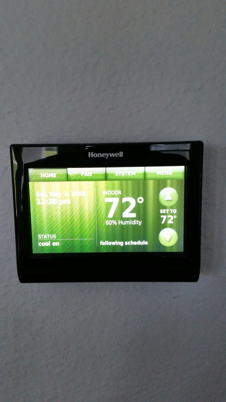 Garland, TX - AC repair replace Honeywell digital thermostat Pro 8000 with Honeywell wifi thermostat Trane air conditioning system perform service on air conditioning system