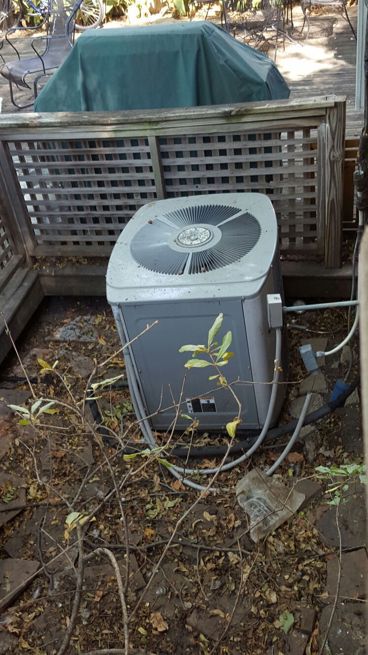 Heath, TX - Trane air conditioner replace condenser fan motor and run capacitor service air conditioning systems