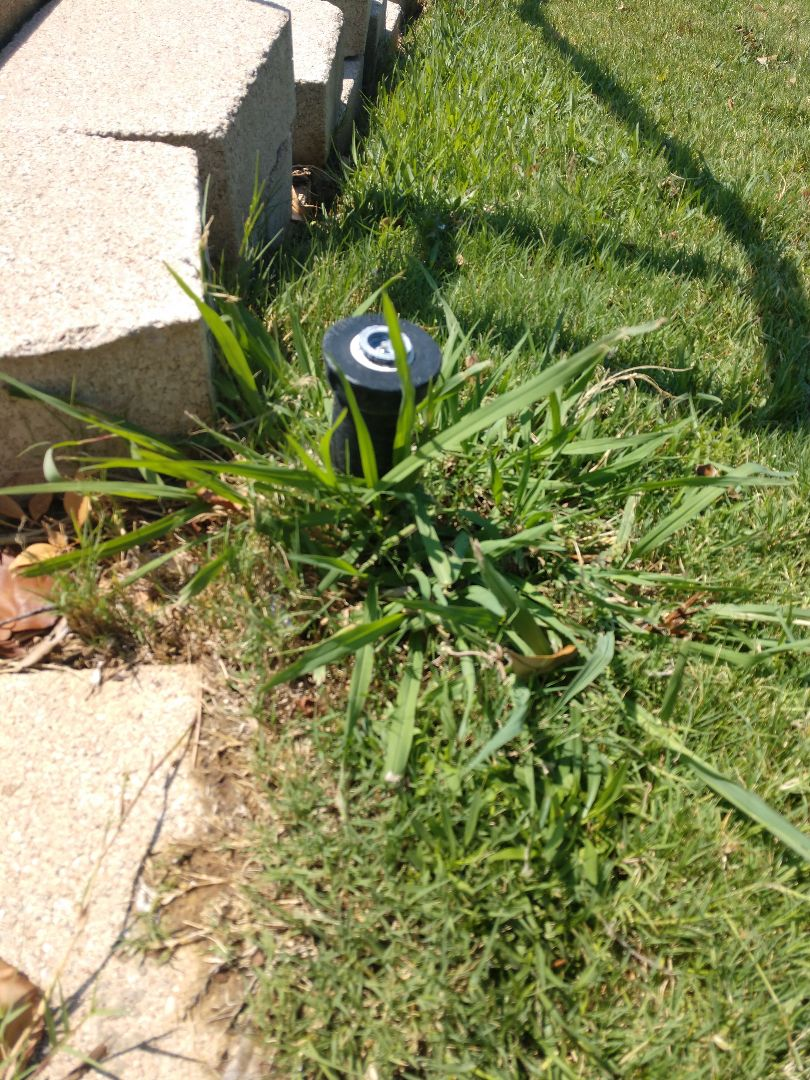 Hurst, TX - Checking sprinkler head