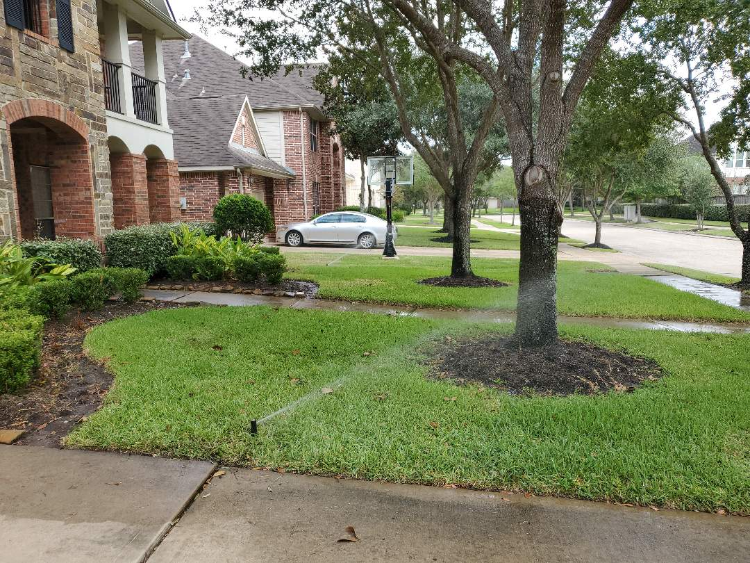 Sugar Land, TX - Replace hunter rotors. Replace hunter spray heads. Raise low sprinkler heads.