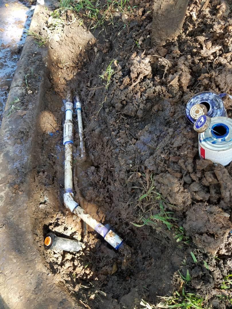 Repairing Sprinkler Leak