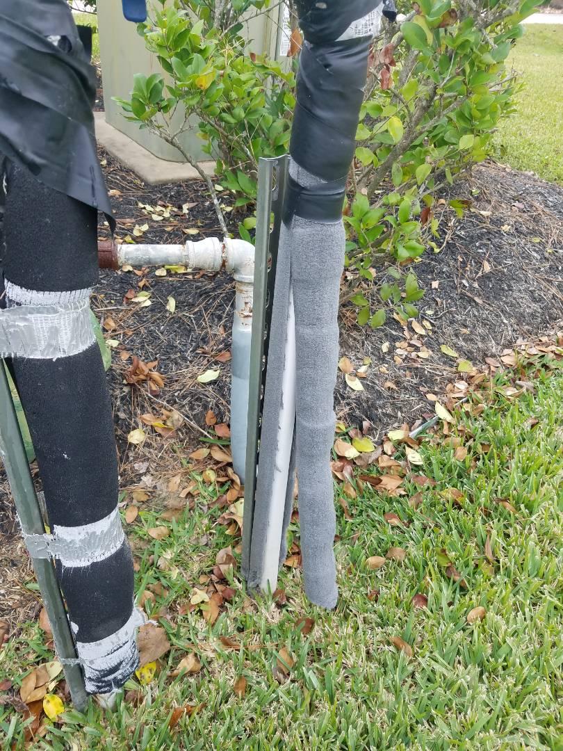 Tomball, TX - Winterizing sprinkler system.