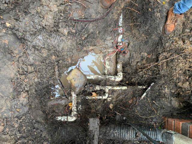 Hunter system: main water line leak repair