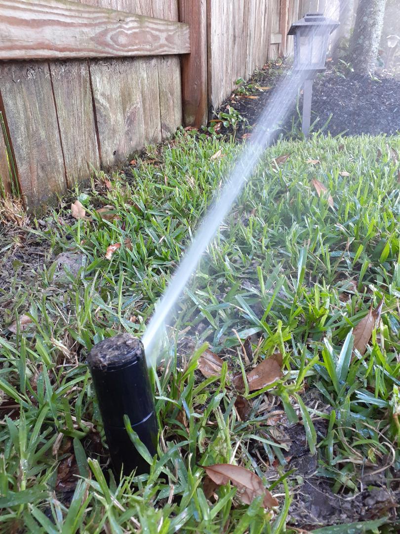 Houston, TX - Replacing sprinkler rotors.