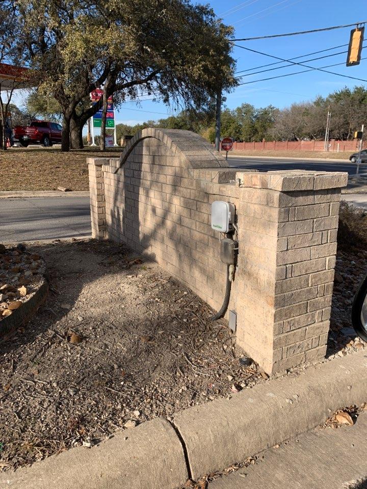 Schertz, TX - Repairing irrigation system