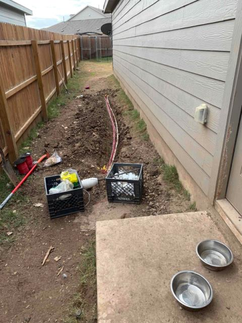 San Antonio, TX - Ran wire for 6 zones. Replaced solenoids, and did system check up.