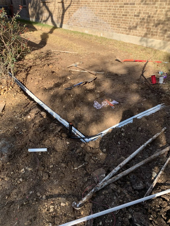 Repairing broken irrigation lines and wiring issues