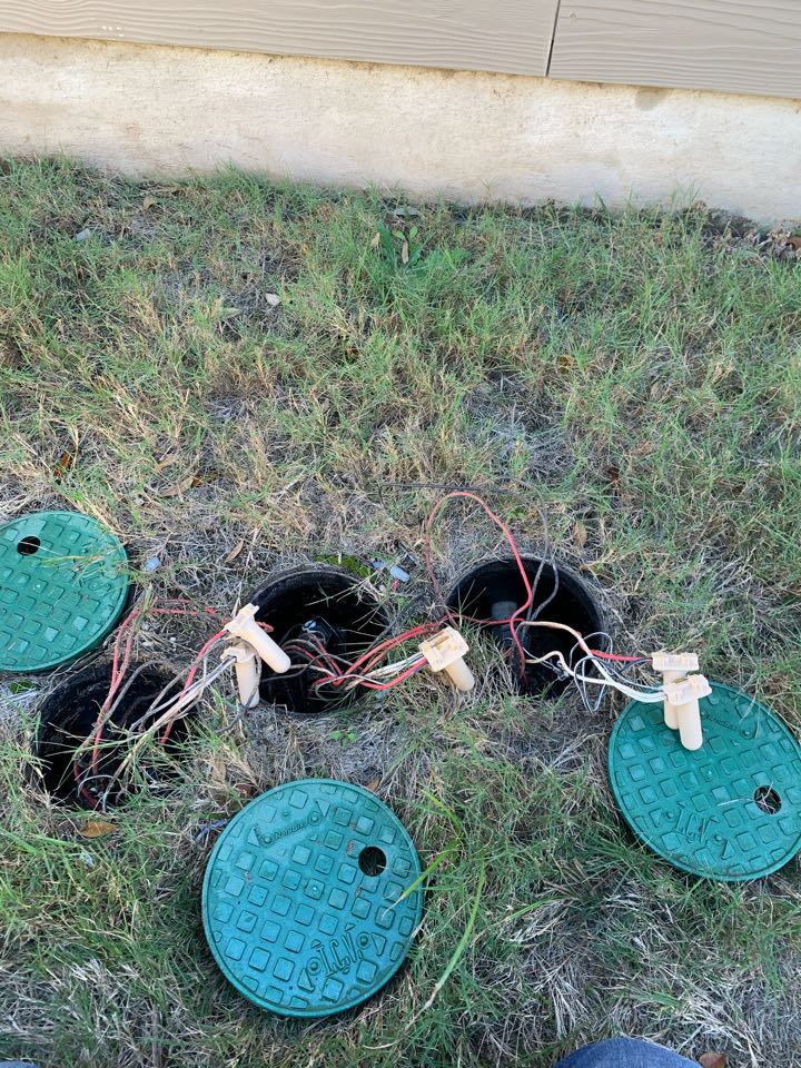 Repairing wiring issue and sprinkler check up
