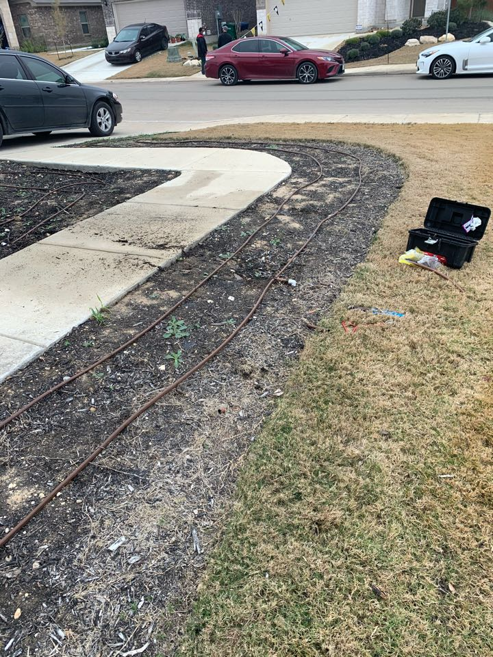 San Antonio, TX - Repairing drip irrigation and replacing sprinkler heads