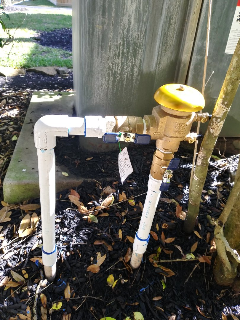 Replaced Backflow
