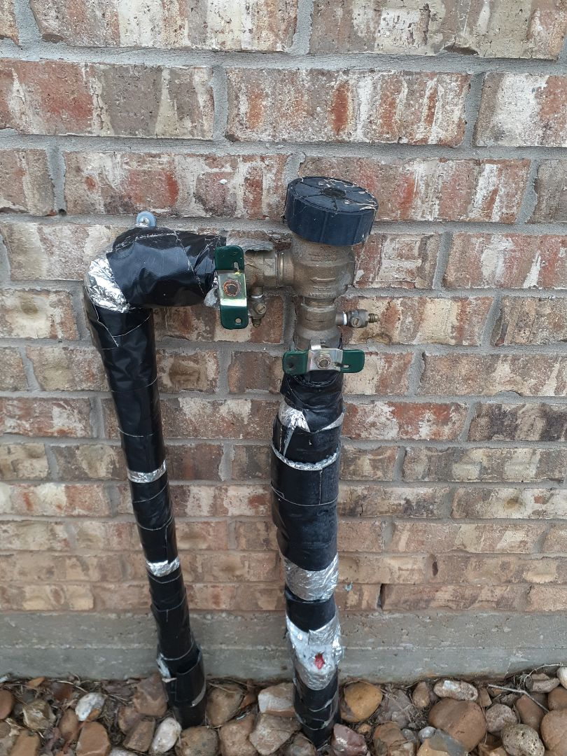 Montgomery, TX - Replacing sprinkler backflow