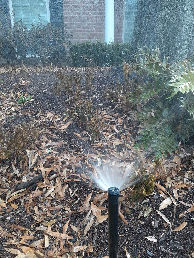 Houston, TX - Replacing sprinkler nozzles.