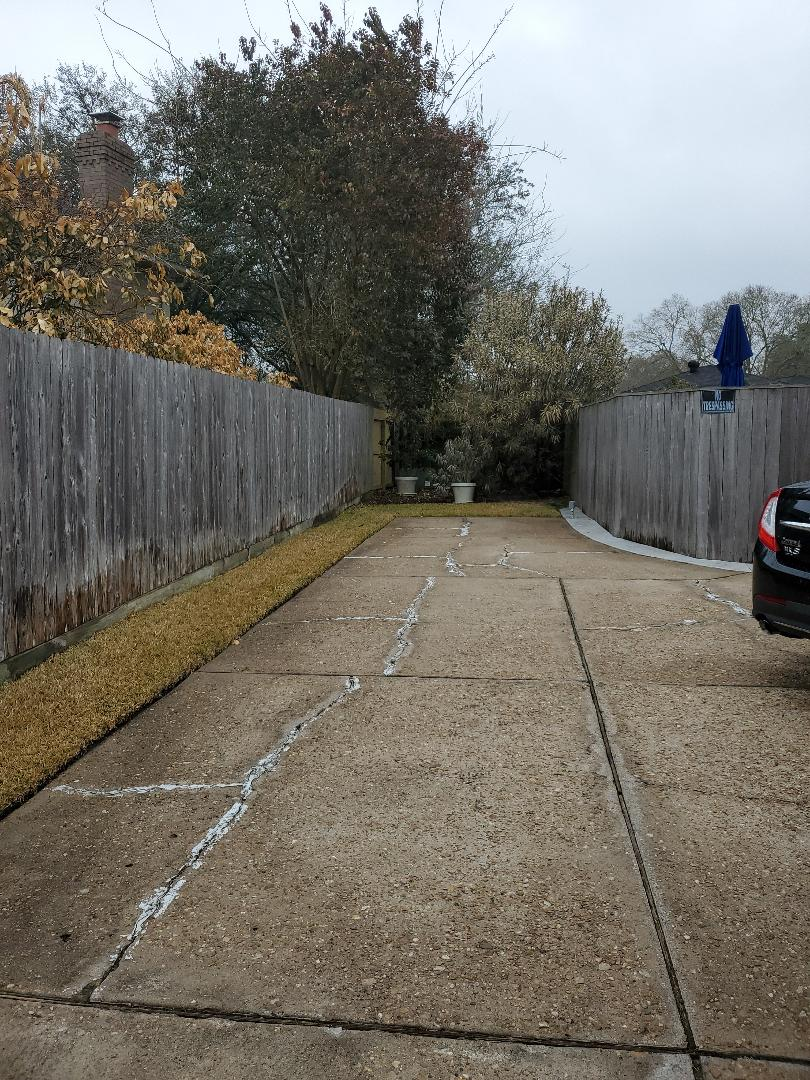 Houston, TX - Turned water back on to irrigation system.