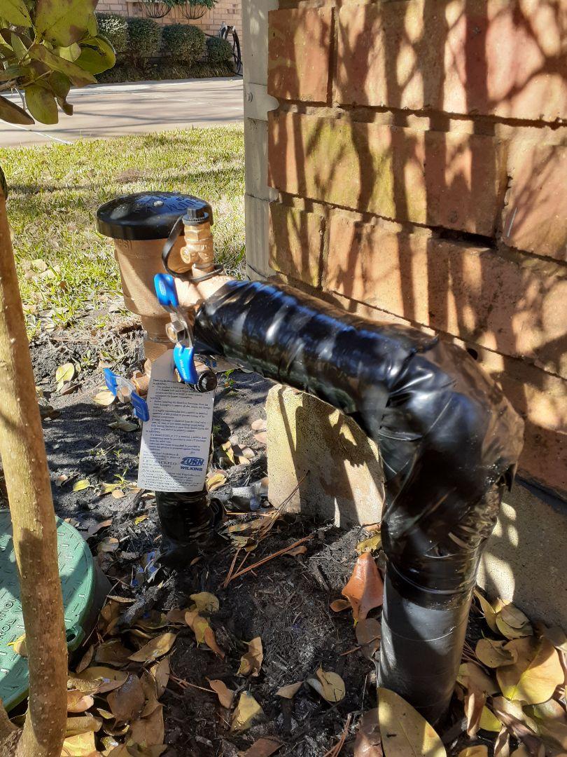 Katy, TX - Replacing Sprinkler PVB.