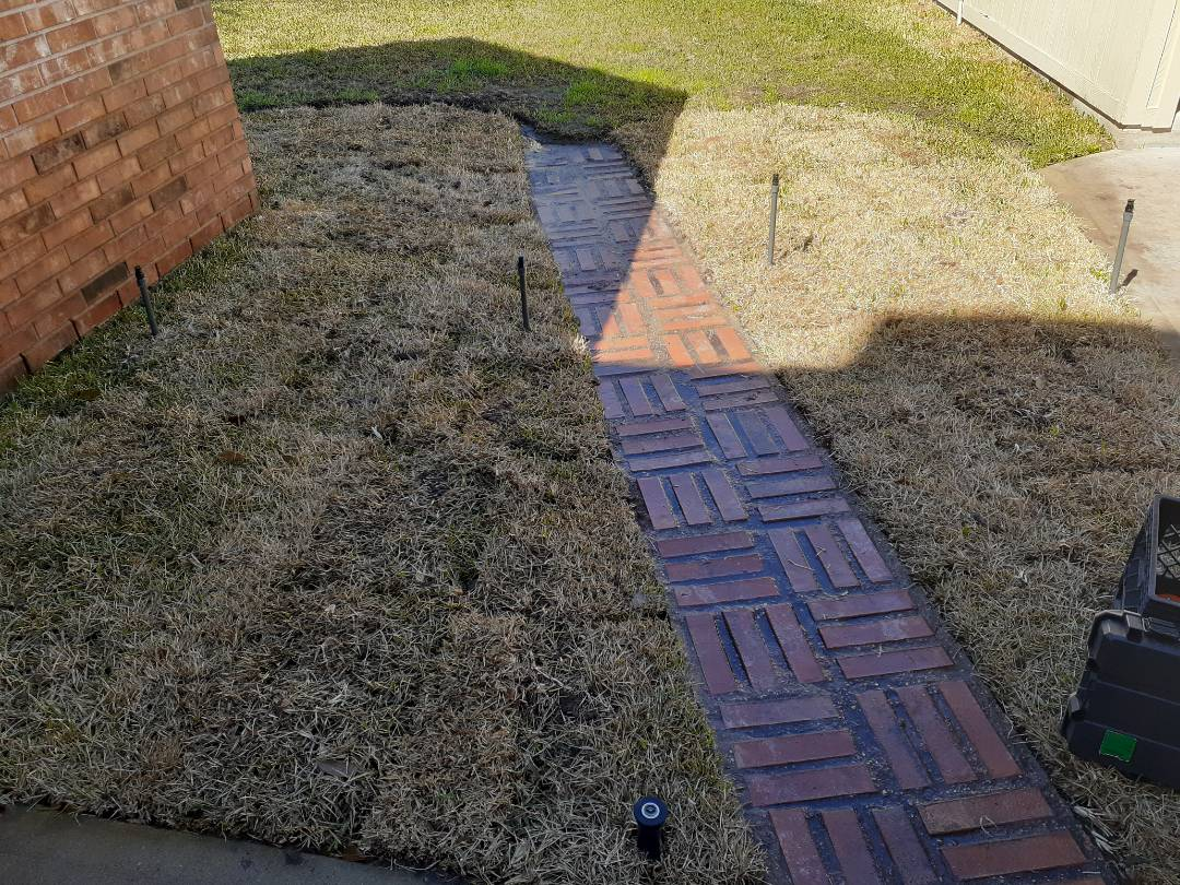 Katy, TX - Checking Sprinkler System.