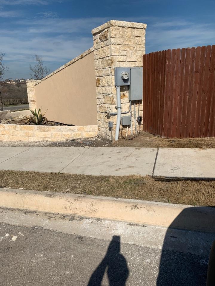 Schertz, TX - System check irrigation