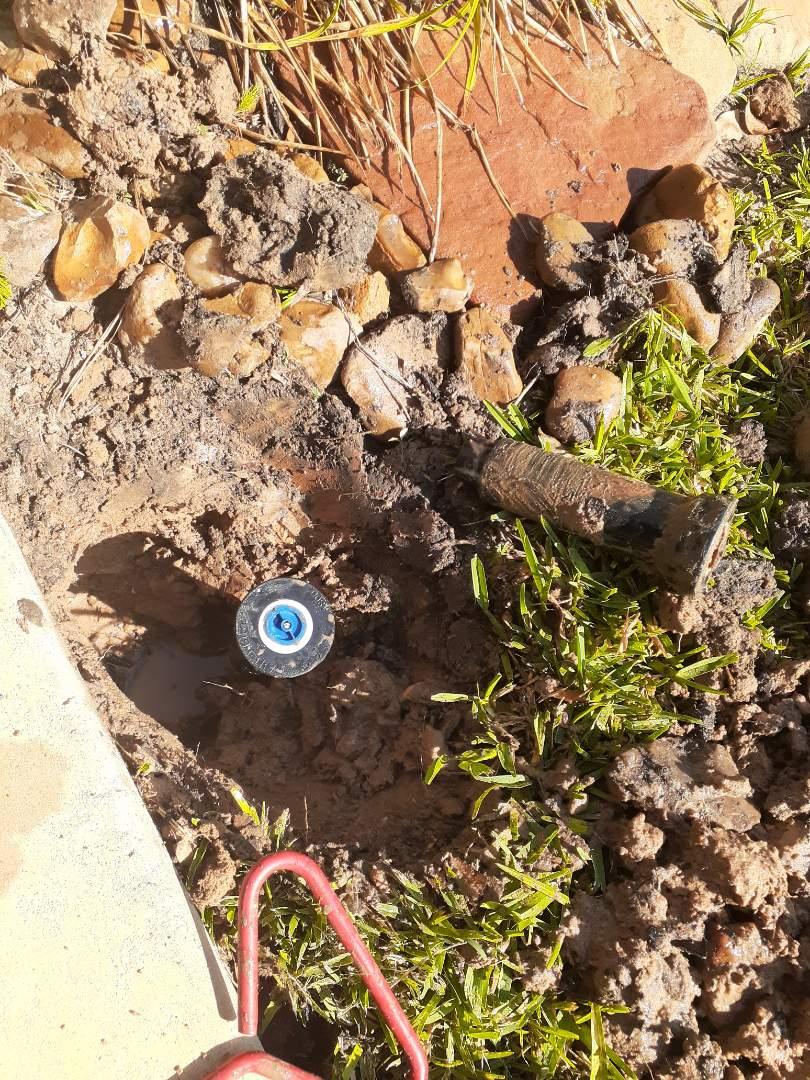 Pinehurst, TX - Replacing sprinkler heads
