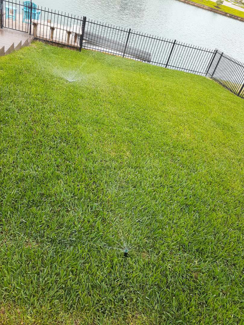 Katy, TX - Checking sprinkler systems.