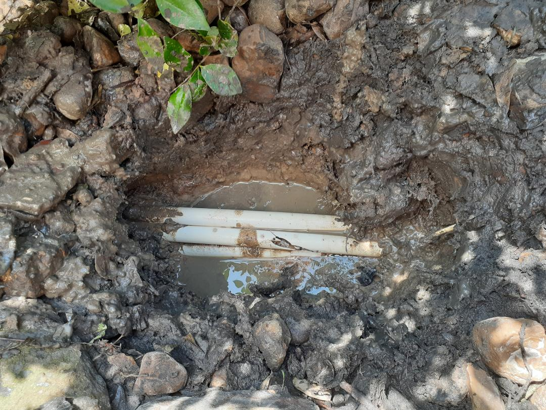 Conroe, TX - Repairing sprinkler leaks
