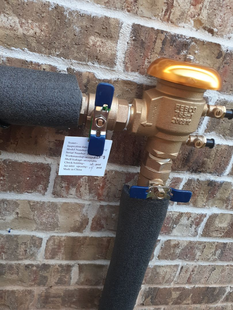 Montgomery, TX - Replacing sprinkler backflows