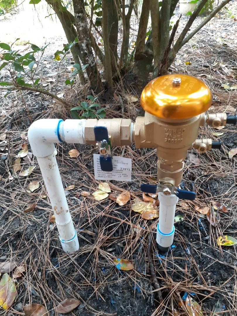 Replacing sprinkler backflows