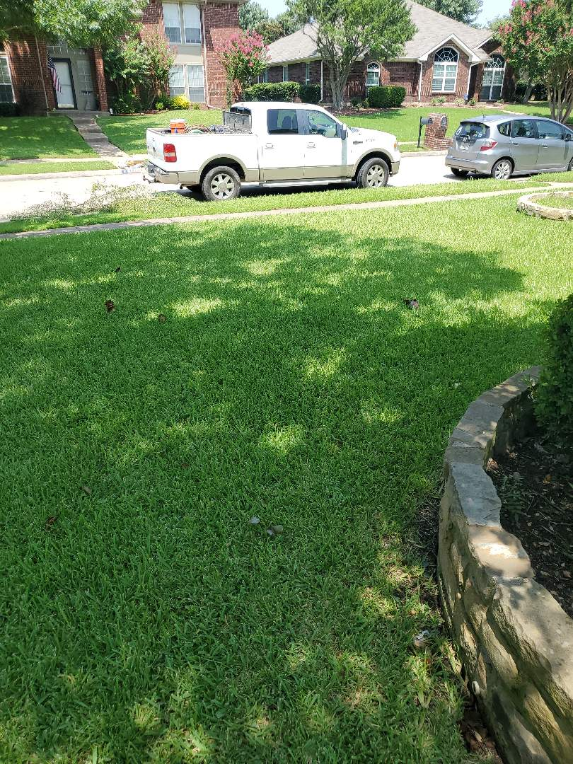 Carrollton, TX - Sprinkler system repairs,  Fix broken lateral line and  Change some clogged nozzles.
