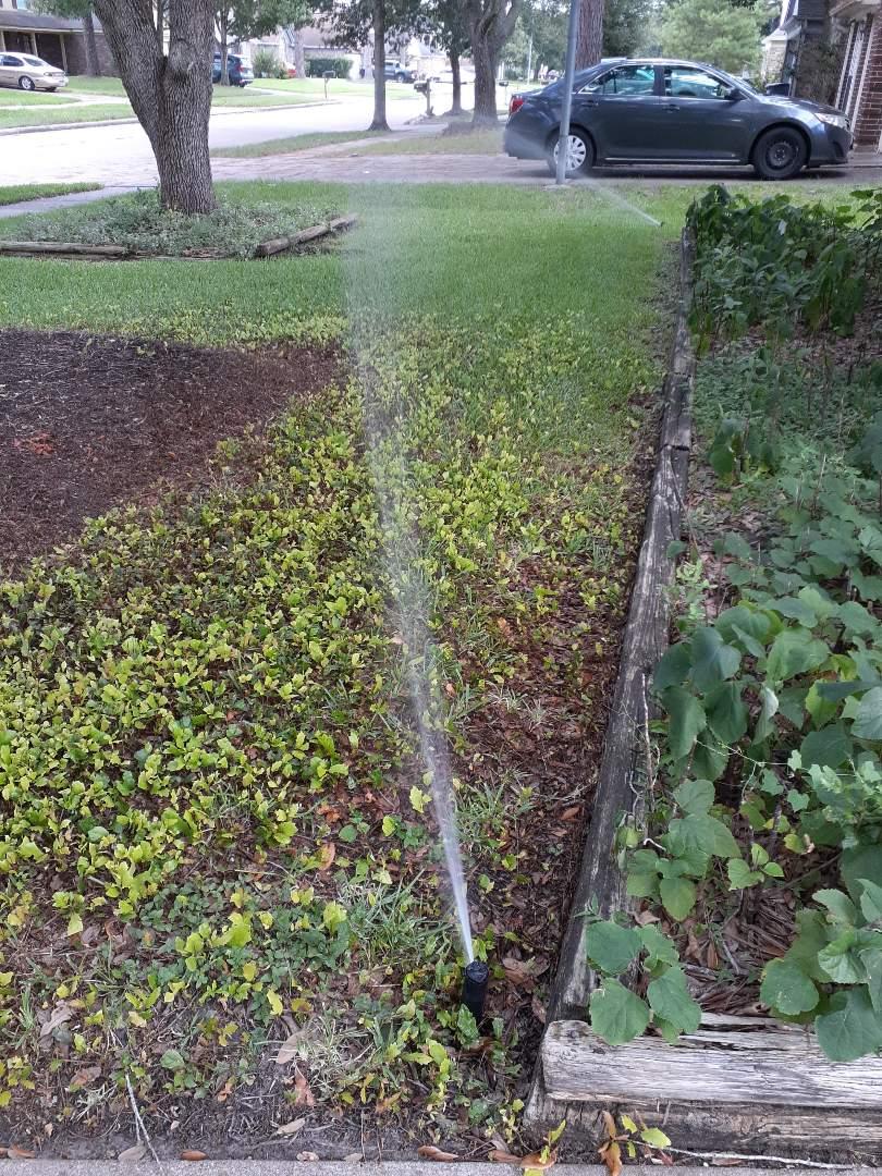 Houston, TX - Checking sprinkler systems.