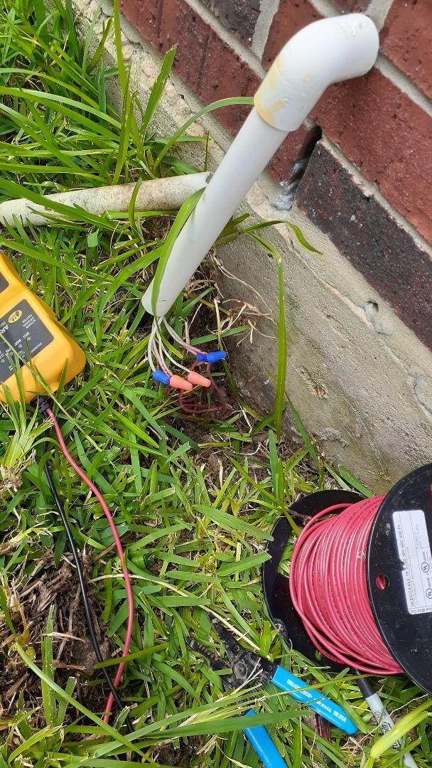 Fresno, TX - Repairing sprinkler system wiring issues.