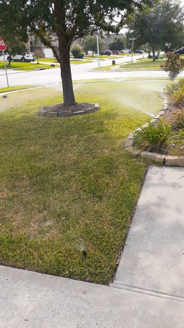 Conroe, TX - Checking sprinkler systems