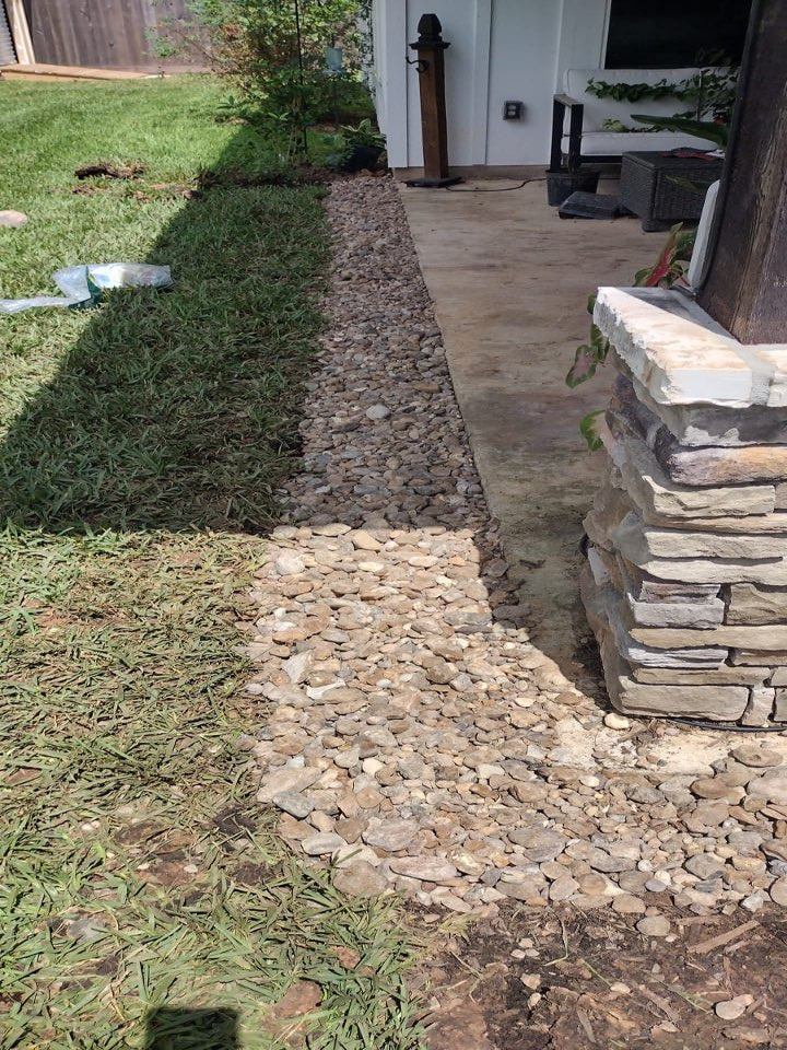 Lake Jackson, TX - Drainage system installation