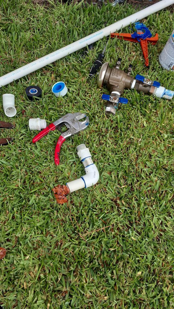 Repaired sprinkler leaks