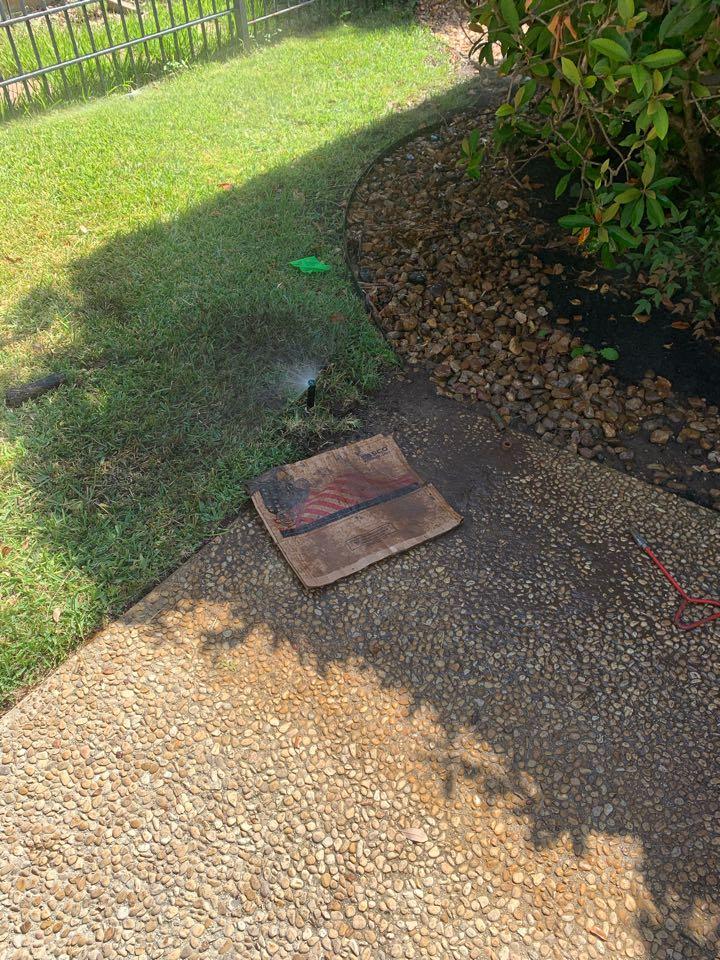 San Antonio, TX - Repairing main line leak and changing out sprinkler heads