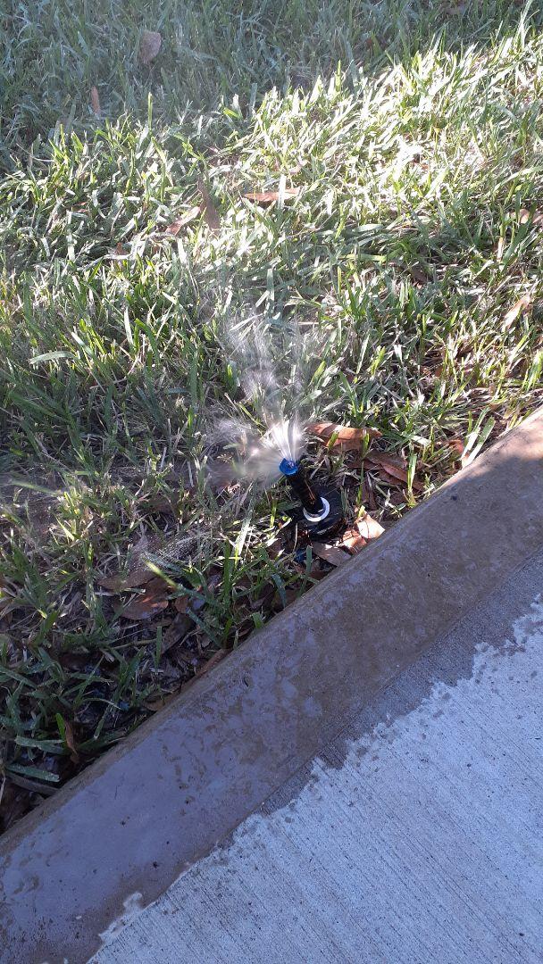 Houston, TX - Checking sprinkler systems