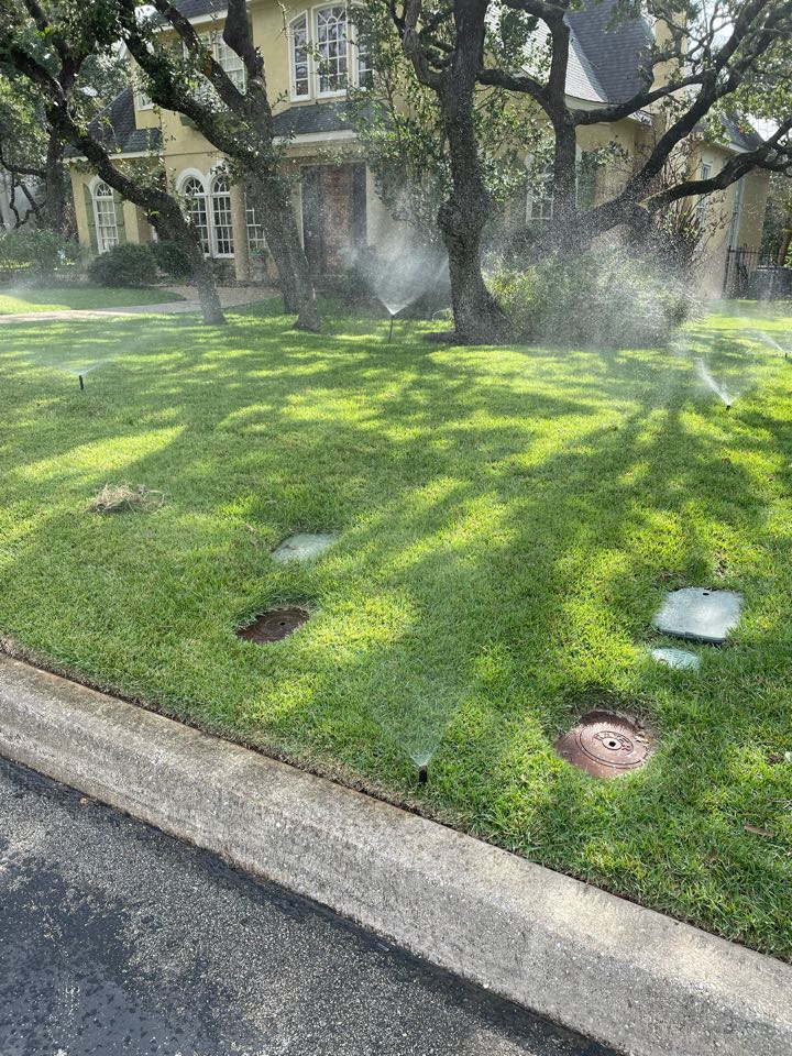 Replacing sprinkler heads and adjustments throughout the system