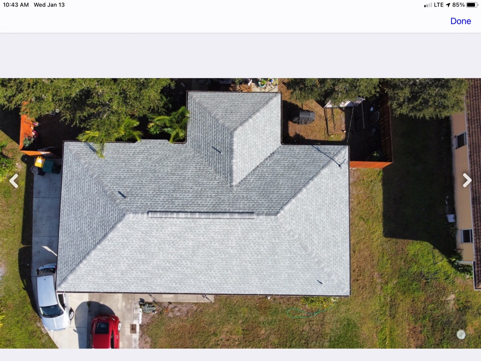 Englewood, FL - Roof completed. Collected in full. Did final walkthrough.